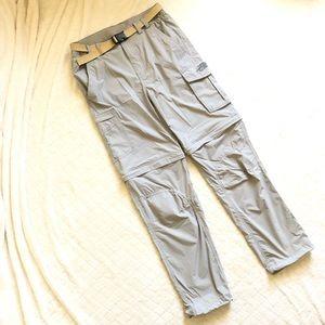 The north face gray convertible pants/S